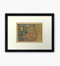 Map Of Wales 1573 Framed Print