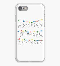 Stranger Things Alphabet Lights iPhone Case/Skin