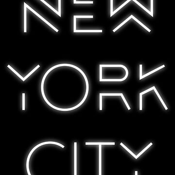 NYC (White on black version) by Elyzewin