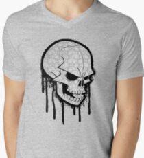 Skull Face V-Neck T-Shirt
