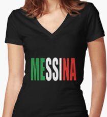 Messina. Women's Fitted V-Neck T-Shirt