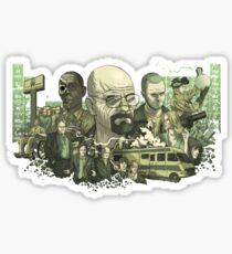 Breaking Bad Stylized Collage Sticker