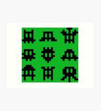 Pixel Invaders - Retro Pixelart Space Ships Art Print