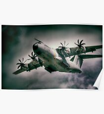 A400M Airbus Vortices Poster