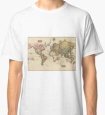 World Map (1812) Classic T-Shirt