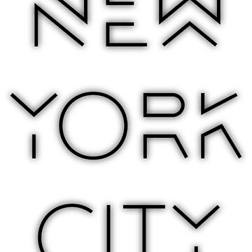 NYC (Black on white version) by Elyzewin