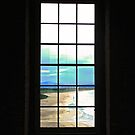 Window in Mussenden Temple overlooking the Beach by Shulie1