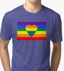 Rainbow heart Tri-blend T-Shirt