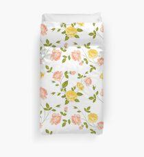Funda nórdica Rosas, fondo floral, patrón sin costuras.
