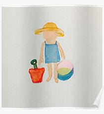 Toddies Summer Beach Holiday Baby Girl Toddler Poster