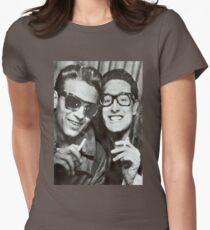 Buddy Holly and Waylon Jennings Women's Fitted T-Shirt