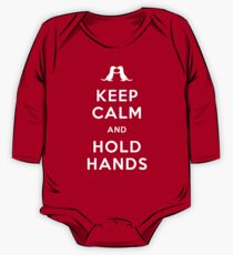 Keep Calm and Hold Hands (Otters holding hands) One Piece - Long Sleeve