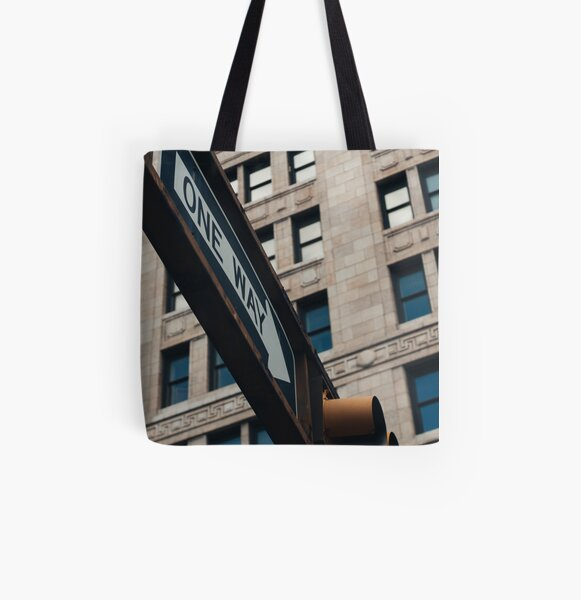 One Way All Over Print Tote Bag
