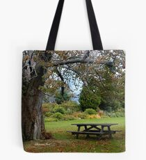 Picnic Table under an Ancient Tree Tote Bag