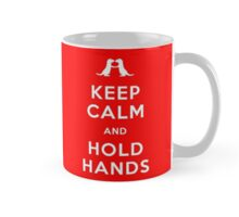 Keep Calm and Hold Hands (Otters holding hands) Mug