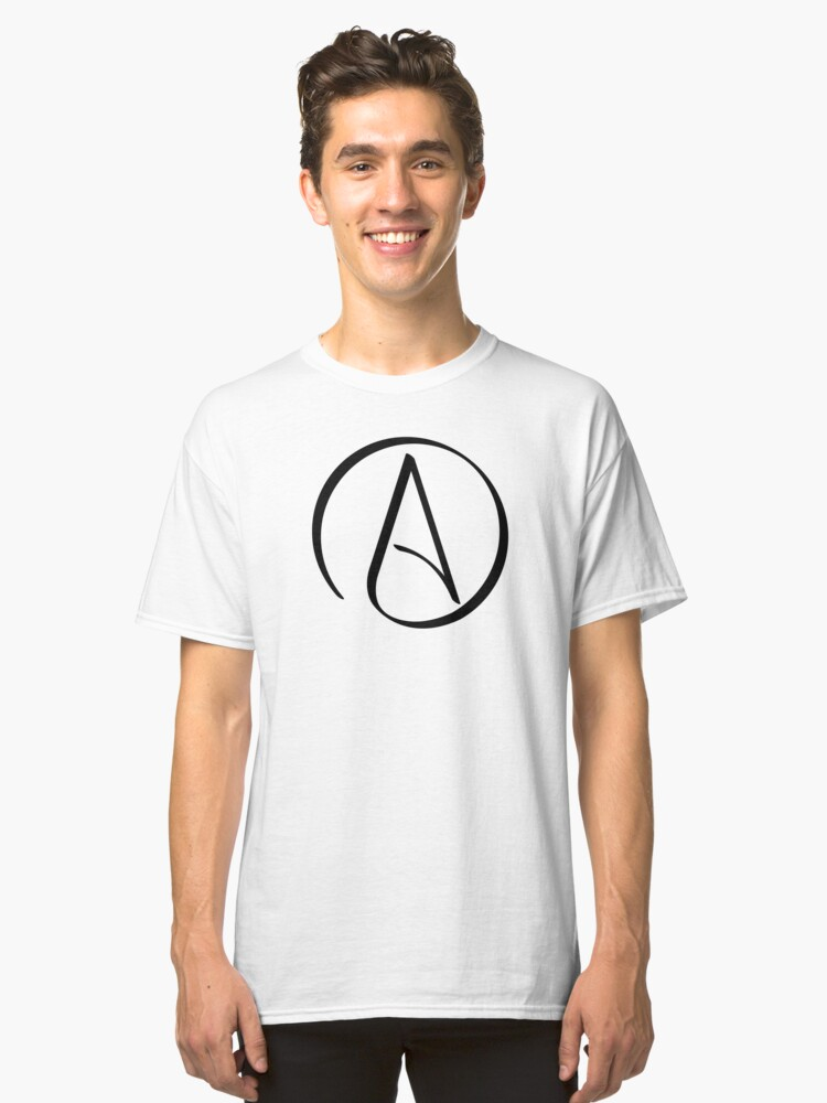 Atheist Symbol Classic T Shirt By Skeltal Redbubble