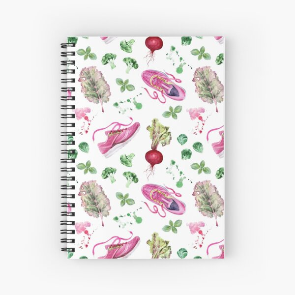 Elevate Your Health Pattern Spiral Notebook