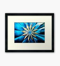 Blue Glass Flower Framed Print