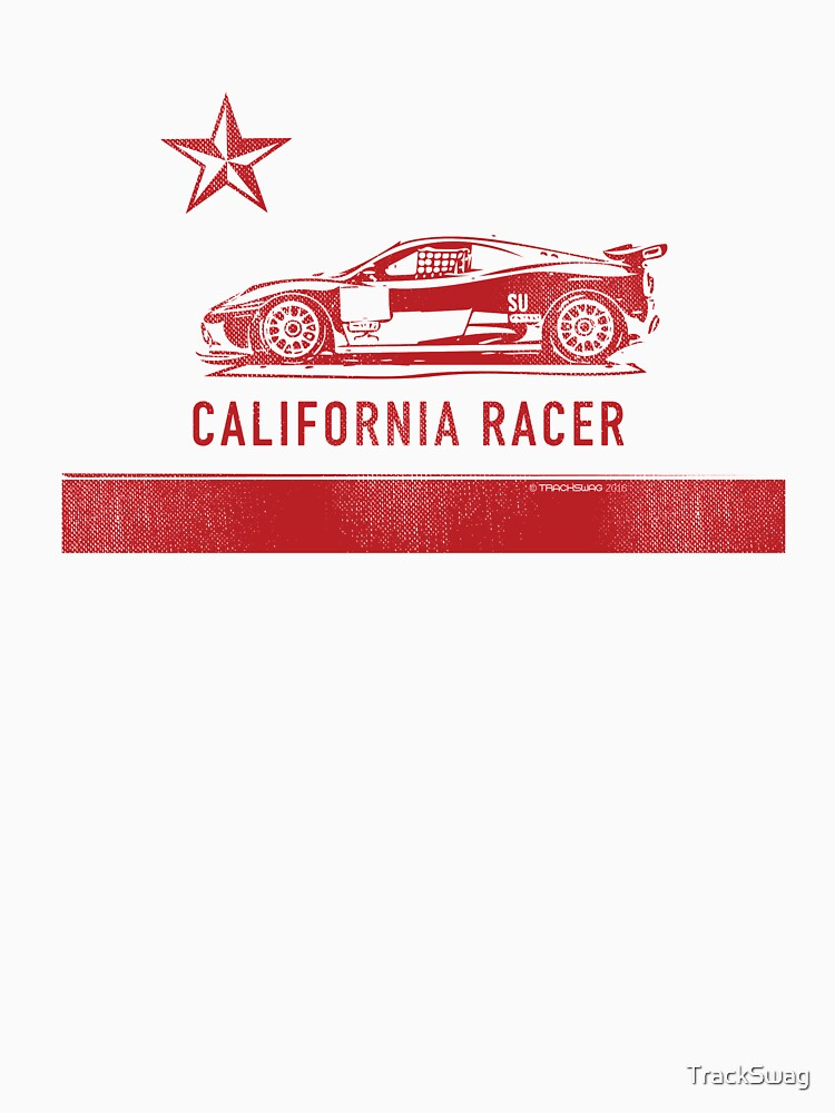 California Racer - Red Ferrari by TrackSwag
