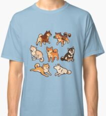 shibes in blue Classic T-Shirt