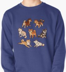 shibes in blue Pullover
