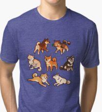 Shibes in Blau Vintage T-Shirt