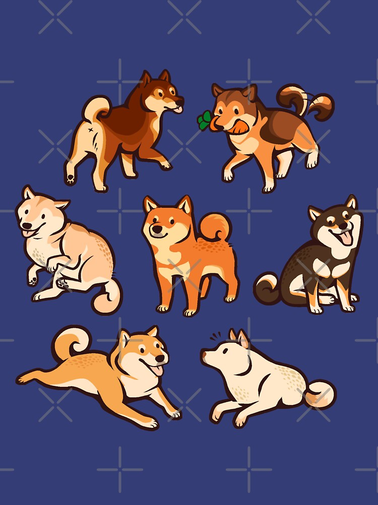 shibes in blue by Colordrilos