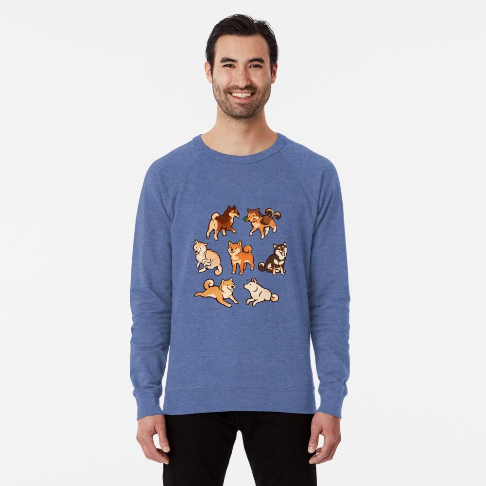 shibes in blue Lightweight Sweatshirt