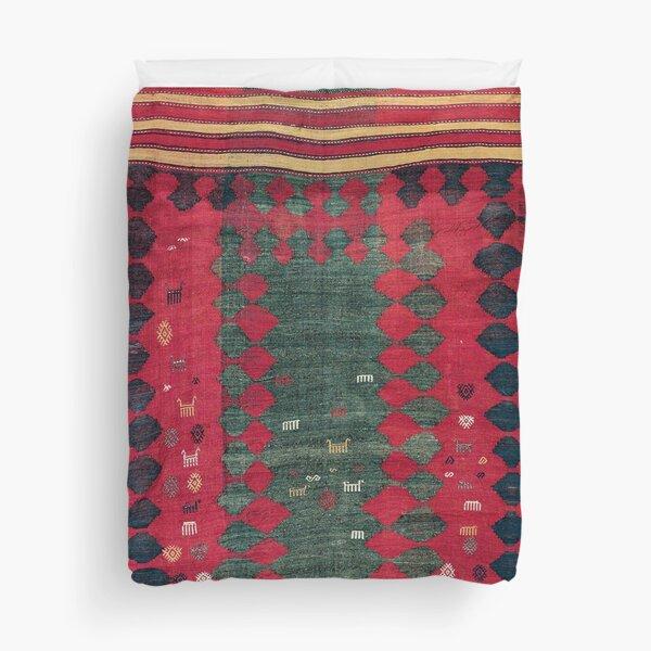Azeri Shadda  Antique South Caucasus  Azerbaijan Kilim  Print Duvet Cover
