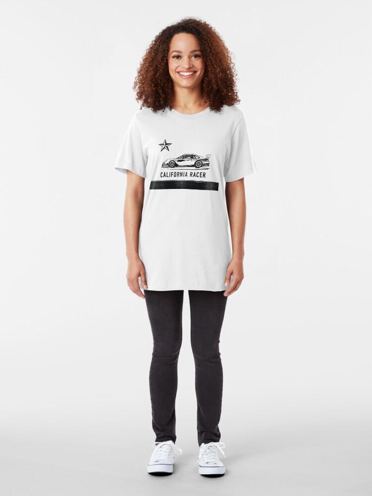Alternate view of California Racer - Black Porsche Slim Fit T-Shirt