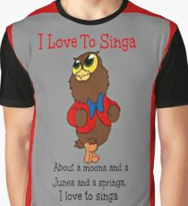 Owl Jolson  I love to Singa! Graphic T-Shirt
