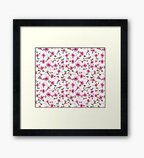 Design of vintage floral card Framed Print