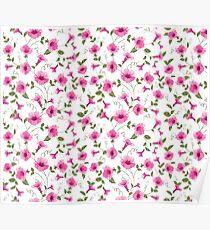 Design of vintage floral card Poster