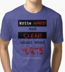 Write hard and clear about what Hurts Tri-blend T-Shirt