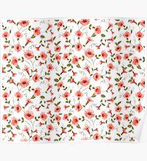 Bindweed , floral background, seamless pattern Poster