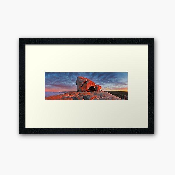 Remarkable Rocks Sunrise, Kangaroo Island, South Australia Framed Art Print