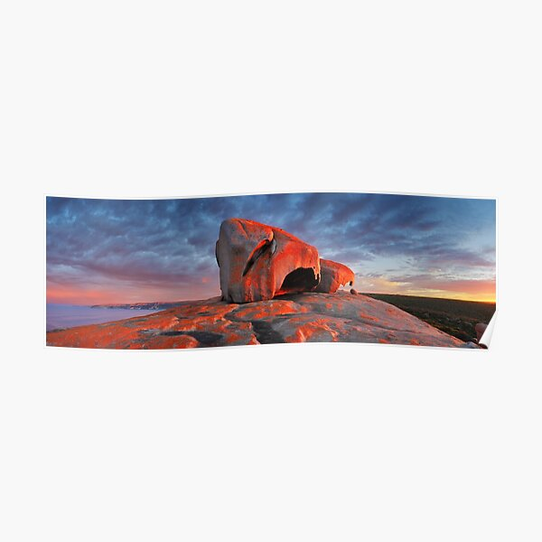 Remarkable Rocks Sunrise, Kangaroo Island, South Australia Poster
