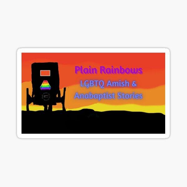 Plain Rainbows! Sticker