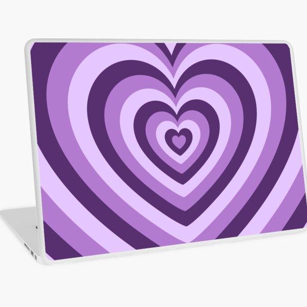 Purple Latte Heart Laptop Skin