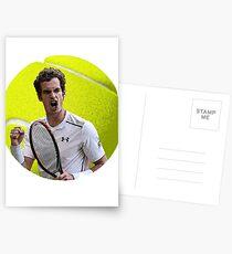 Andy Murray Tennisball Postkarten