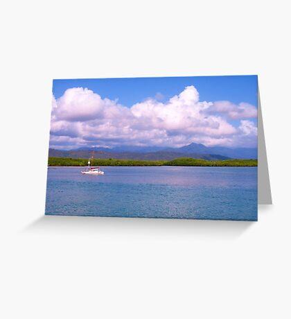 Port Douglas across the harbour. Northern  Australia  Greeting Card