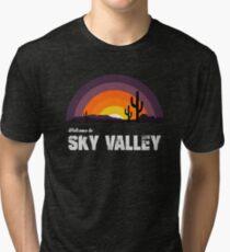Camiseta de tejido mixto Bienvenido a Sky Valley