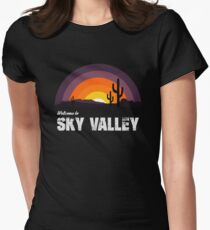Welcome To Sky Valley Womens Fitted T-Shirt