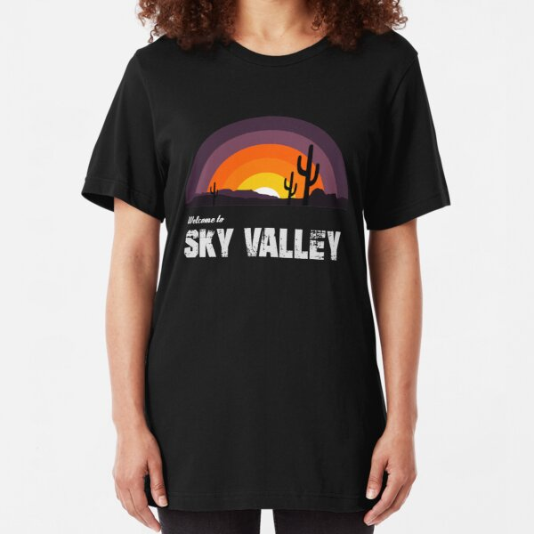 Welcome To Sky Valley Slim Fit T-Shirt