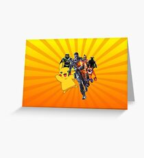 Cool Video Game Characters Greeting Card