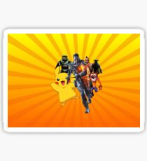 Cool Video Game Characters Sticker