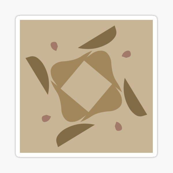 Modern abstract art, Neutral abstract art Sticker