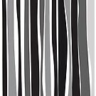 Retro Stripe Black/White/Grey by pawpapaya