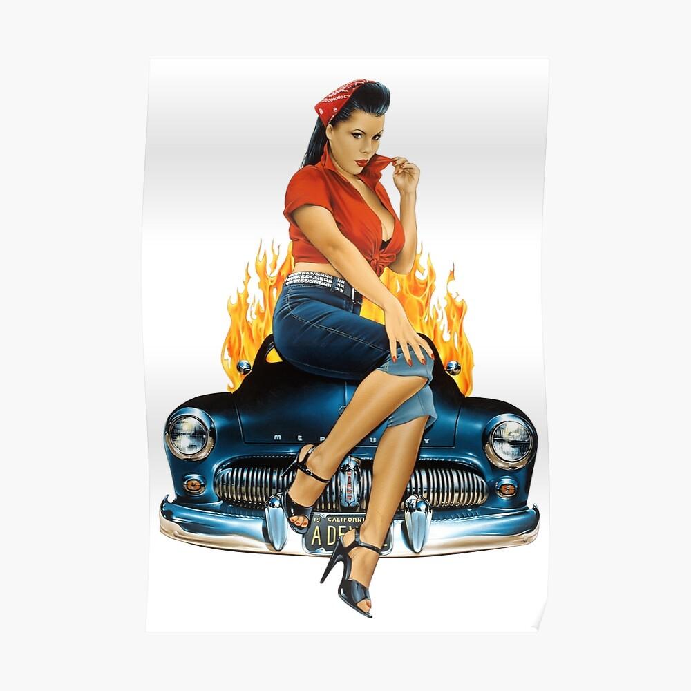 Mercury Rising Pin Up Design Poster