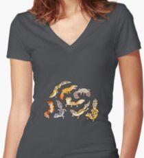 chub gecko babies Women's Fitted V-Neck T-Shirt